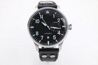 Acheter Bracelet en cuir pilote-AAA de luxe de qualité supérieure Pilot 7 Day Power Reserve hommes en acier inoxydable Sport Montres bracelet en cuir noir Bracelet Mens Automatic Watch