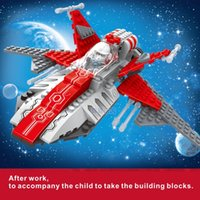 aviation space - DIY aircraft building blocks puzzle puzzle toy aviation model parent child game space combat aircraft year old children s toys toys gifts