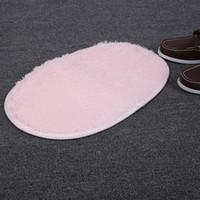 Wholesale x50cm Safety Floor Soft Silk Wool Bathroom Oval Bath Rug Tub Foam Pad Mat