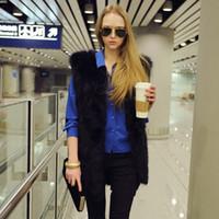 Wholesale Winter New Fashion Faux Fur Vest for Women Jacket Coat Warm Sleeveless Fur Coat Outwear Plus Size colors FS0941