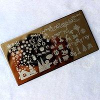 Wholesale New Christmas Designs Nail Stamping Plates Nail Polish Konad Nail Art Decorations Templates Stencils Manicure Tools