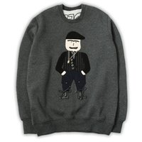 Wholesale 2017 new mens cashmere sweater coat with embroidery cartoon
