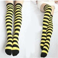 bee stockings - Bee Striped THIGH HIGH Over Knee Stockings In Me Before You For Girls Womens