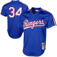Wholesale Men s Texas Rangers Nolan Ryan Mitchell Ness Royal Authentic Cooperstown Collection Mesh Batting Practice Jersey