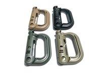 Plástico nexo Baratos-MOLLE ITW Nexus GrimLoc D-anillo de bloqueo clips Hollow Out plástico hebilla cierre Keychain 4 colores para 200pcs opcional A293