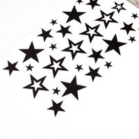 best designed tattoos - Best Sale Cute Star Design Body Art Temporary Tattoo Sticker