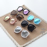 Fashion Girls Waterproof New fashion Children colorful sun glasses boys and girls metal sunglasses kids Round Adumbral Glasses baby accessory lovekiss C21607