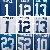 best good luck - best quality mens Pat new McAfee Andrew blue Luck TY good Hilton Donte elite Moncrief jerseys football