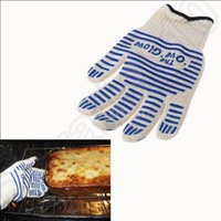 Wholesale Universal Ove Glove BBQ Cooking Microwave Oven Mitts Heat Protection Kitchen Bakeware Gloves Cooking Tools OOA1040