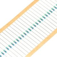 Resistores de la película de metal del ohmio del resistor +/- 1% 1 / 4w 470KR de los resistores de la película del metal de la resistencia del anillo del color del vatio de 0.25W /