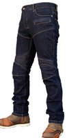 Wholesale The High quality KOMINE pk718 motorcycle jeans riding pants Slim racing pants have protection off road pants Drop resistance pants