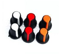 Wholesale High quality plastic potentiometers knobs Knob for single double potentiometers