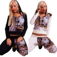 Wholesale Color Income European Heat Sell Autumn Suit dress Printing Motion Fund Suit Series Fleece sweater