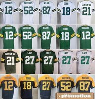 aaron shipping - Mens Jordy Nelson Clinton Dix Eddie Lacy Clay Matthews Aaron Rodgers Stitched Jerseys Green