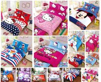 Wholesale Cartoon Bedding Set Children Cotton Bed sheets Duvet Cover Bed sheet Pillowcase