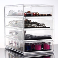 acrylic lip gloss display holder - Acrylic Makeup Holder Cosmetic Organiser Box contains Lip Gloss Lip Stick Nail Polish Varnish Display Stand Makeup Brushes and Storage Case