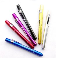 Wholesale 100pcs Color Mini Medical Surgical Doctor Nurse Emergency First Aid Working Pocket Pen Light Torch Flashlight
