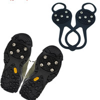 0.26-0.75 anti skid shoe covers - Mountaineering Crampons Ice Catch Protection Against Snow Claw Anti skid Crampon High Tension Silica Gel Rubber Non slip Shoe Cover hz1