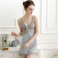 Cheap L536 new arrival summer sexy lace woman's nightgown deep-v sleep dress one piece sleepwear sexy lingerie