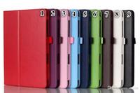 Wholesale New Arrival New For ipad mini PU Leather Protective Case Smart Stand Cover for iPad Mini1 mini2 mini3 Free Ship Colours