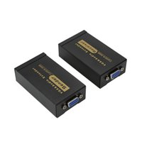 Grossiste 100m 328ft VGA Video Audio Extender Plus RJ45 CAT5e / 6-568B émetteur récepteur Extension