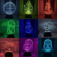 LED 3D Star Wars Millennium Сокола starwar 10 стиль Millefalcon Оптический Night Light Акриловые Light панель DC 5V завод