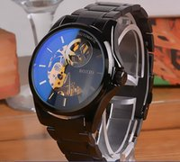 Wholesale On behalf of the genuine BOXIO Man s automatic mechanical watches are hollow steel waterproof watches