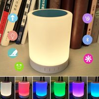 Wholesale Music Night Lights Multifunctional Portable Wireless Bluetooth Smart Lamp with Speaker Touchable Sensor LED Desk Lamp novelty christmas Gift