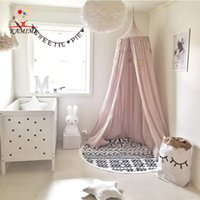 baby room curtains - KAMIMI baby room decoration dome bed curtain Crib Netting baby tent cotton Hung Dome baby Mosquito Net photography props