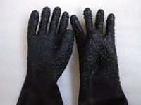 Wholesale Rubber Gloves Sandblasting Gloves Long Gloves Protect Gloves L650mm Free Ship