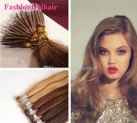 Wholesale 300g Brazilian Nano Hair Nano Ring Remy Hair Weave Extensions quot quot Blonde Straight Hair