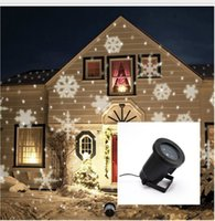Wholesale Snow Flake Projector Waterproof Outdoor Christmas Lights Snow Laser Projector Lamps Snowflake Christmas LED Stage Light KKA1029