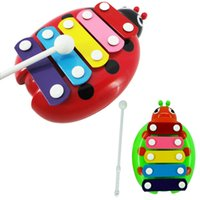 Wholesale Popular cute baby kids interesting useful good playing multicolor Note Xylophone Musical Toys Wisdom Educational New piano