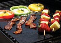 Wholesale PTFE Non stick BBQ Grill Mat Barbecue Baking Liners Reusable Teflon Cooking Sheets cm Cooking Tool wn049