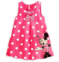 Wholesale New children Girl s dress Suit Minnie Mouse kids Clothing princess girls clothes sleeveless dress dress