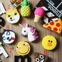 Wholesale Cute Cartoon Cell Phone Power Banks mah Expression Ice Cream Pineapple Dogs Mobile Phone Power Suppler with Multi Style