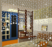Wholesale crystal clear beads glass Partition shopwindow Crystal beaded curtain Wedding decoration