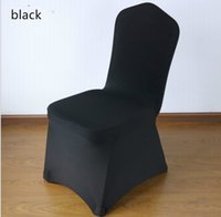 Wholesale High Quality Black Polyester Spandex Wedding Chair Covers for Weddings Banquet Hotel Decoration Supplies Prices