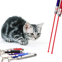 Wholesale Cat Toys In1 Red Laser Pointer Pen With White LED Light Childrens Play Random Color
