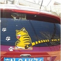 Wholesale Wiper after cartoon car sticker tail moving Garfield sticker after the rear window wiper decorative stickers