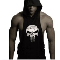 Wholesale 2016 Skull ZYZZ Golds Bodybuilding Stringer Hoodies Gym Stringer Hoodie Fitness Brand Tank Top Men Clothing Cotton Pullover Hoody