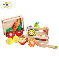 Wholesale 2016 new Children s favorite Wooden gift cut vegetables and fruit Eggplant with radish and potatoes Practical ability multicolor
