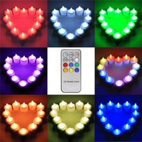 Wholesale 12Pcs Flameless Rechargeable LED Tea Candle Light Tealights Fake Candles for Party Wedding with Frosted Holder Remote Control