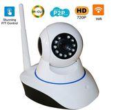 Wholesale 15PCS Wireless P HD ip camera wifi camera b g P2P network IR Outdoor Waterproof security camera work with alarm sensor