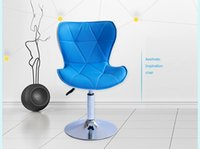 Wholesale blue red gree balck color bar chair European popular coffee stool KTV cafe house PU leather funiture shop