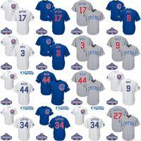 Wholesale Chicago Cubs Kris Bryant Baseball Jerseys Stitch World Series Champions Patch Anthony Rizzo Javier Baez Baseball Jerseys