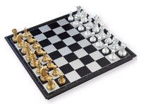 Wholesale UB genuine gold and silver chess magnetic folding chess u3 fold enhanced Excellent Quality Gold and silver pieces large foldin