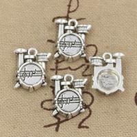 antique drums - Charms drum set mm Antique pendant fit Vintage Tibetan Silver DIY for bracelet necklace