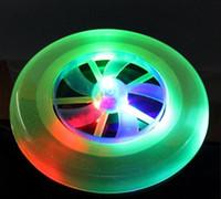 Wholesale Explosion of children s outdoor toys luminous Frisbee rotating flywheel lantern UFO swing frisbee toys
