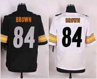 Unisex antonio homes - 84 Antonio Brown white black Ourtdoor Sportswears Home Away Jerseys Road Rugby Jersey Free Drop Shipping